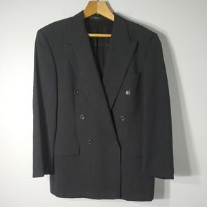 Boss Charcoal Double Breasted Suit Jacket